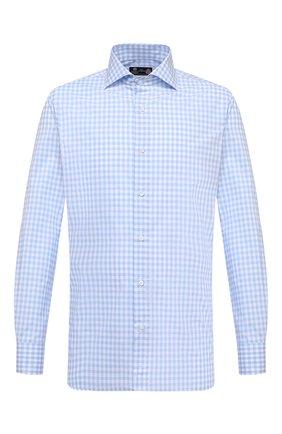 Мужская хлопковая сорочка LUIGI BORRELLI голубого цвета, арт. EV08/ACHILLE/S10010 | Фото 1