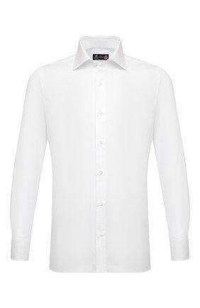 Мужская хлопковая сорочка LUIGI BORRELLI белого цвета, арт. EV08/LUCIAN0/S10224 | Фото 1