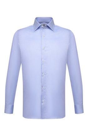 Мужская хлопковая сорочка LUIGI BORRELLI голубого цвета, арт. EV08/LUCIAN0/S10224 | Фото 1