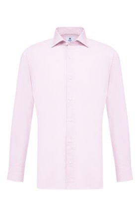 Мужская хлопковая сорочка LUIGI BORRELLI розового цвета, арт. EV08/ACHILLE/S10605 | Фото 1