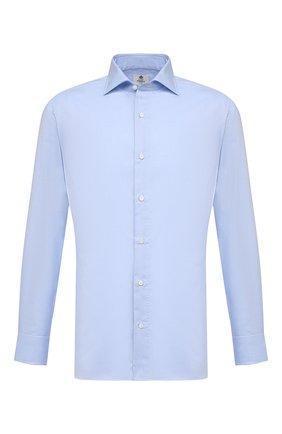 Мужская хлопковая сорочка LUIGI BORRELLI голубого цвета, арт. EV08/ACHILLE/S10701 | Фото 1