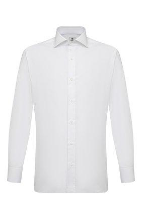 Мужская хлопковая сорочка LUIGI BORRELLI белого цвета, арт. EV08/LUCIAN0/S31027 | Фото 1
