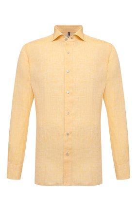 Мужская льняная рубашка LUIGI BORRELLI желтого цвета, арт. EV08/NAND0/S31045   Фото 1