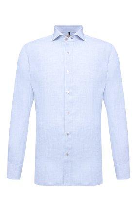Мужская льняная рубашка LUIGI BORRELLI голубого цвета, арт. EV08/NAND0/S31045 | Фото 1