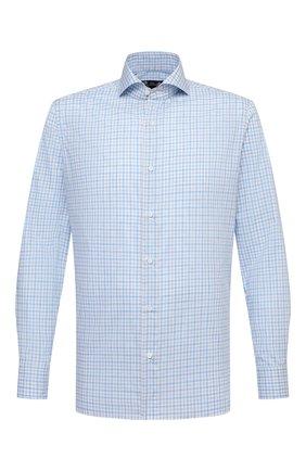 Мужская хлопковая рубашка LUIGI BORRELLI голубого цвета, арт. EV08/FELICE/S31179 | Фото 1