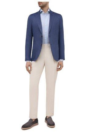 Мужская хлопковая рубашка LUIGI BORRELLI голубого цвета, арт. EV08/FELICE/S31179 | Фото 2