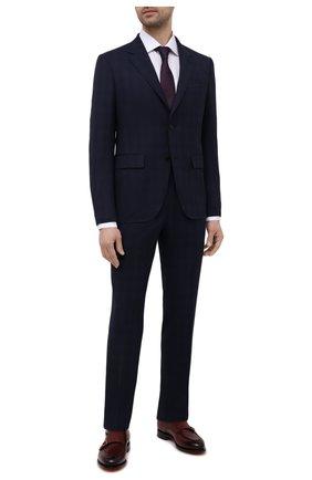 Мужская хлопковая сорочка ETON белого цвета, арт. 1000 03006 | Фото 2 (Принт: Однотонные; Рукава: Длинные; Случай: Формальный; Стили: Классический; Материал внешний: Хлопок; Манжеты: На пуговицах; Рубашки М: Regular Fit; Воротник: Акула; Длина (для топов): Стандартные)
