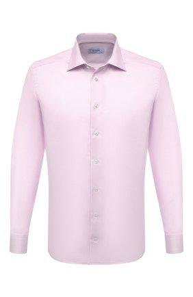 Мужская хлопковая сорочка ETON светло-розового цвета, арт. 1000 02057 | Фото 1 (Материал внешний: Хлопок; Манжеты: На пуговицах; Стили: Классический, Романтичный; Воротник: Акула; Случай: Формальный; Рубашки М: Slim Fit; Принт: Однотонные; Рукава: Длинные; Длина (для топов): Стандартные)