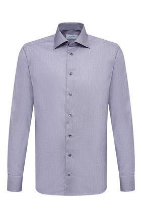 Мужская хлопковая сорочка ETON синего цвета, арт. 1000 02057 | Фото 1 (Материал внешний: Хлопок; Случай: Формальный; Принт: Однотонные; Рукава: Длинные; Манжеты: На пуговицах; Рубашки М: Slim Fit; Стили: Классический; Воротник: Акула; Длина (для топов): Стандартные)