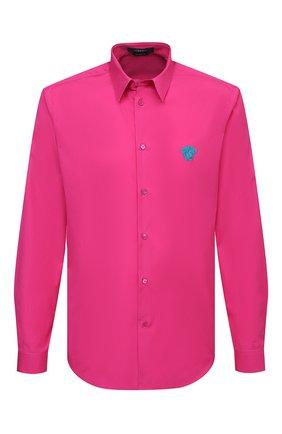 Мужская хлопковая рубашка VERSACE фуксия цвета, арт. A89273/A232105 | Фото 1