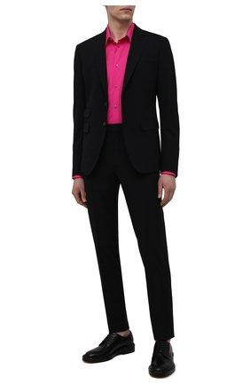 Мужская хлопковая рубашка VERSACE фуксия цвета, арт. A89273/A232105 | Фото 2
