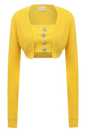 Женский комплект из кардигана и топа GIUSEPPE DI MORABITO желтого цвета, арт. SS21069KN-79 | Фото 1