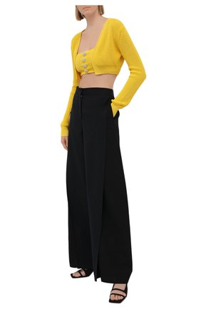 Женский комплект из кардигана и топа GIUSEPPE DI MORABITO желтого цвета, арт. SS21069KN-79 | Фото 2