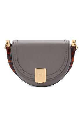 Женская сумка moonlight FENDI серого цвета, арт. 8BT346 ABVL   Фото 1