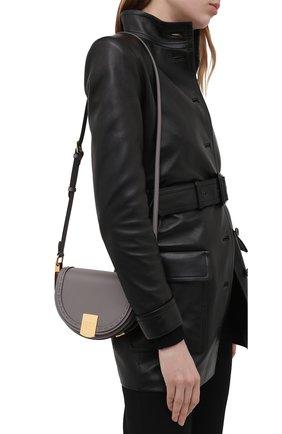 Женская сумка moonlight FENDI серого цвета, арт. 8BT346 ABVL   Фото 2