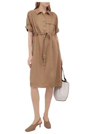 Женское платье PIETRO BRUNELLI бежевого цвета, арт. AG0441/LG/TE0010 | Фото 2