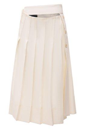 Женская льняная юбка JACQUEMUS кремвого цвета, арт. 211SK05/101110 | Фото 1