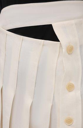 Женская льняная юбка JACQUEMUS кремвого цвета, арт. 211SK05/101110   Фото 5