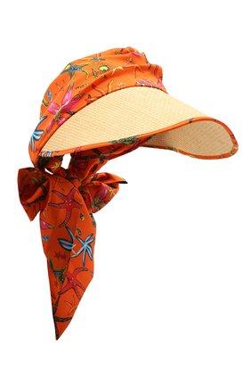 Женский козырек VERSACE оранжевого цвета, арт. ICAP028/1F01240 | Фото 1