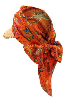 Женский козырек VERSACE оранжевого цвета, арт. ICAP028/1F01240 | Фото 2