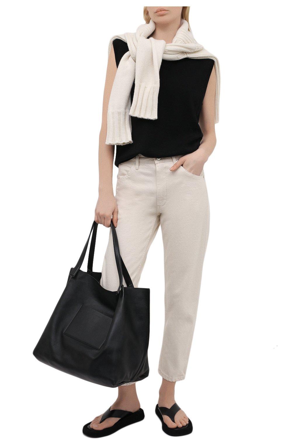 Женские джинсы JIL SANDER бежевого цвета, арт. JPPS663107-WS246500 | Фото 2