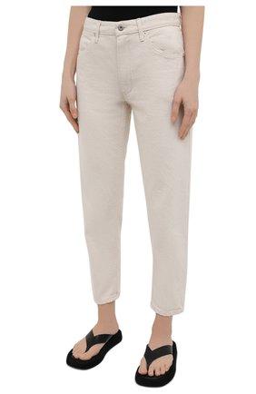 Женские джинсы JIL SANDER бежевого цвета, арт. JPPS663107-WS246500 | Фото 3