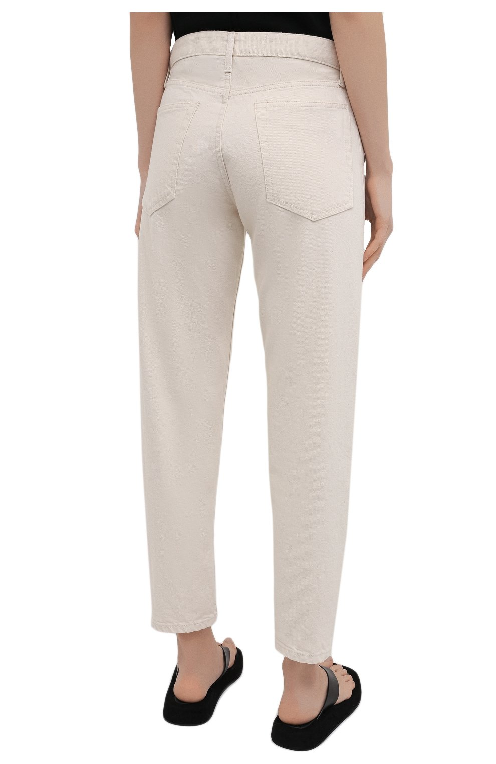 Женские джинсы JIL SANDER бежевого цвета, арт. JPPS663107-WS246500 | Фото 4