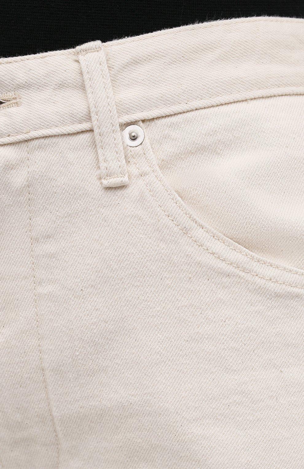 Женские джинсы JIL SANDER бежевого цвета, арт. JPPS663107-WS246500 | Фото 5