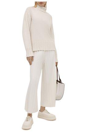 Женские шерстяные брюки THEORY белого цвета, арт. L0111718 | Фото 2