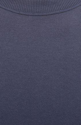 Мужской хлопковый джемпер BOGNER синего цвета, арт. 88516505 | Фото 5 (Мужское Кросс-КТ: Джемперы; Рукава: Длинные; Принт: Без принта; Длина (для топов): Стандартные; Материал внешний: Хлопок; Стили: Спорт-шик; Вырез: Круглый)