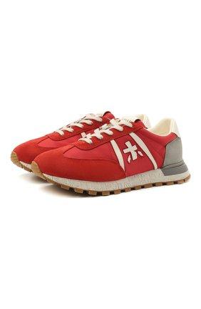 Мужские комбинированные кроссовки john-low PREMIATA красного цвета, арт. J0HNL0W/VAR5183 | Фото 1