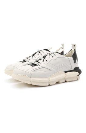 Мужские комбинированные кроссовки ATTIMONELLI'S белого цвета, арт. AA501 | Фото 1