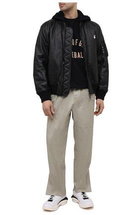 Мужские комбинированные кроссовки ATTIMONELLI'S белого цвета, арт. AA501 | Фото 2
