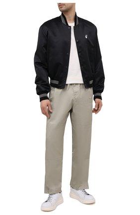 Мужские кожаные кеды ATTIMONELLI'S белого цвета, арт. AA520 | Фото 2