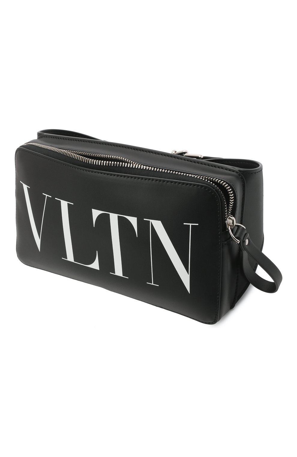 Мужская кожаная поясная сумка VALENTINO черного цвета, арт. VY0B0719/WJW | Фото 4