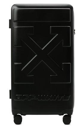 Мужской чемодан OFF-WHITE черного цвета, арт. 0MNG008S21MAT001 | Фото 1
