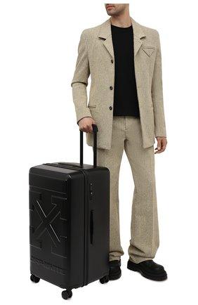 Мужской чемодан OFF-WHITE черного цвета, арт. 0MNG008S21MAT001 | Фото 2