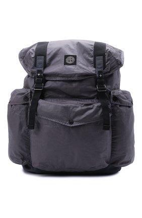Мужской текстильный рюкзак STONE ISLAND темно-серого цвета, арт. 741590370   Фото 1