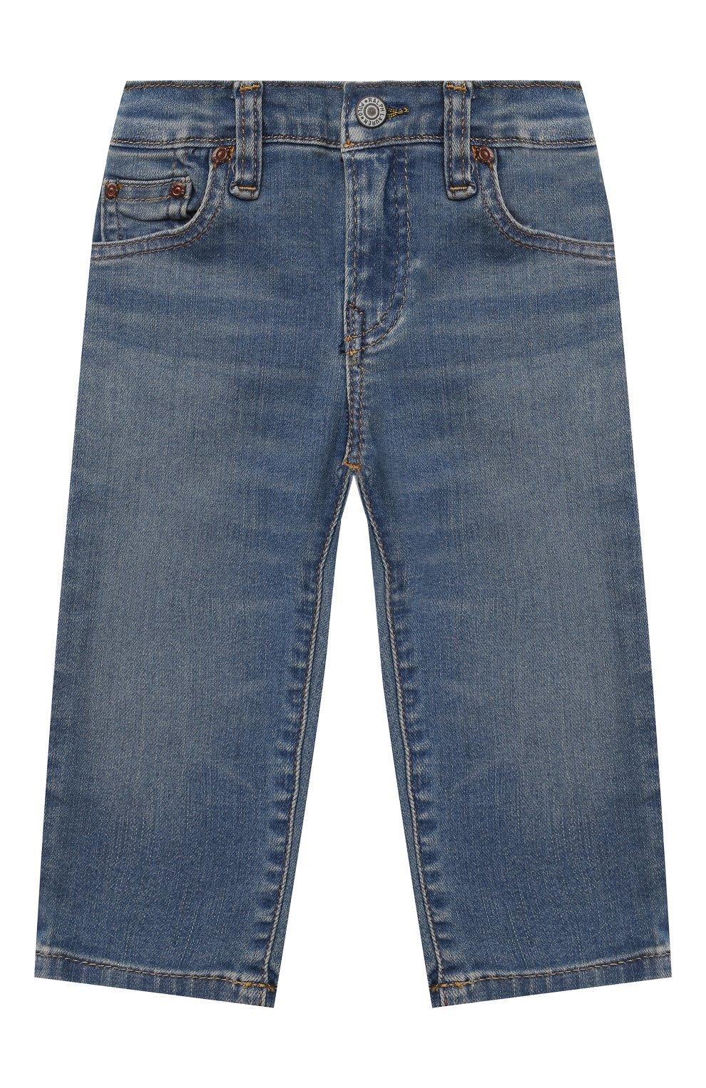 Детские джинсы POLO RALPH LAUREN голубого цвета, арт. 320845297 | Фото 1