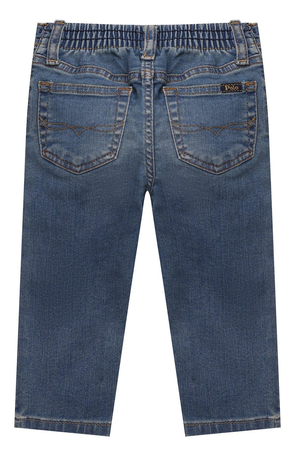 Детские джинсы POLO RALPH LAUREN голубого цвета, арт. 320845297 | Фото 2