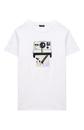 Детская хлопковая футболка IL GUFO белого цвета, арт. P21TS288M0014/10A-12A | Фото 1