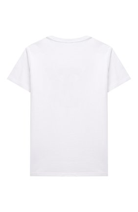 Детская хлопковая футболка IL GUFO белого цвета, арт. P21TS288M0014/10A-12A | Фото 2