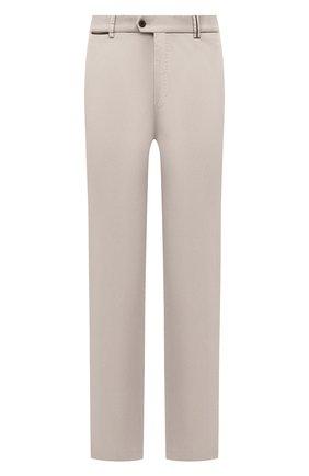 Мужские хлопковые брюки HILTL кремвого цвета, арт. 73295/60-70 | Фото 1 (Big sizes: Big Sizes; Силуэт М (брюки): Чиносы; Длина (брюки, джинсы): Стандартные; Случай: Повседневный; Материал внешний: Хлопок; Стили: Кэжуэл)