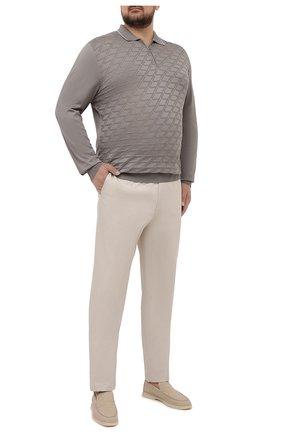 Мужские хлопковые брюки HILTL кремвого цвета, арт. 73295/60-70 | Фото 2 (Big sizes: Big Sizes; Силуэт М (брюки): Чиносы; Длина (брюки, джинсы): Стандартные; Случай: Повседневный; Материал внешний: Хлопок; Стили: Кэжуэл)