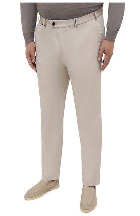 Мужские хлопковые брюки HILTL кремвого цвета, арт. 73295/60-70 | Фото 3 (Big sizes: Big Sizes; Силуэт М (брюки): Чиносы; Длина (брюки, джинсы): Стандартные; Случай: Повседневный; Материал внешний: Хлопок; Стили: Кэжуэл)