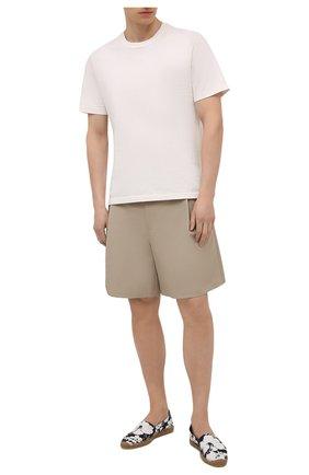 Мужские текстильные эспадрильи SAINT LAURENT черно-белого цвета, арт. 605955/2RI10 | Фото 2