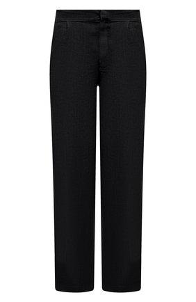 Мужские льняные брюки GRAN SASSO черного цвета, арт. 76100/50008 | Фото 1