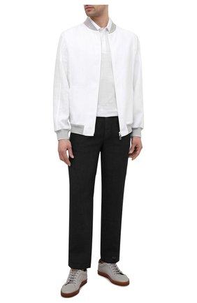Мужские льняные брюки GRAN SASSO черного цвета, арт. 76100/50008 | Фото 2