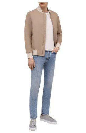 Мужские джинсы JACOB COHEN голубого цвета, арт. J688 C0MF 02324-W3/55   Фото 2