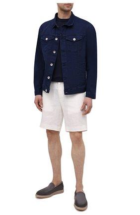 Мужской хлопковый джемпер JACOB COHEN темно-синего цвета, арт. J1114 02383-ZR/55   Фото 2
